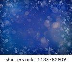 blurred bokeh light on dark... | Shutterstock .eps vector #1138782809