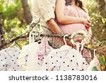 a pregnant couple with the... | Shutterstock . vector #1138783016
