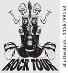 rock tour. vector hand drawn...   Shutterstock .eps vector #1138799153