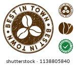 best in town brown stamp.... | Shutterstock .eps vector #1138805840