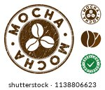 mocha brown stamp. vector seal... | Shutterstock .eps vector #1138806623