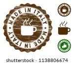 made in italy medallion stamp.... | Shutterstock .eps vector #1138806674