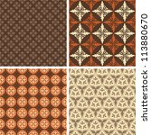 set of four square seamless... | Shutterstock .eps vector #113880670