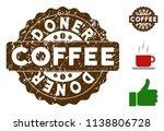 doner award medallion stamp.... | Shutterstock .eps vector #1138806728