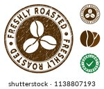 freshly roasted brown stamp.... | Shutterstock .eps vector #1138807193