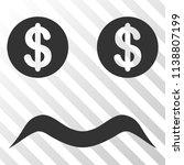 bankrupt smiley vector... | Shutterstock .eps vector #1138807199