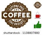 caffeine free reward medallion... | Shutterstock .eps vector #1138807880