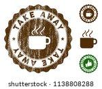 take away medallion stamp.... | Shutterstock .eps vector #1138808288