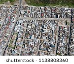 Aerial View Over A Township In...