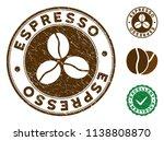 espresso brown stamp. vector... | Shutterstock .eps vector #1138808870