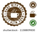 made with love medallion stamp. ... | Shutterstock .eps vector #1138809830