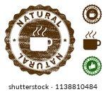 natural medallion stamp. vector ... | Shutterstock .eps vector #1138810484