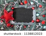 green  red and silver christmas ... | Shutterstock . vector #1138812023