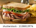 homemade roast beef deli... | Shutterstock . vector #1138813976