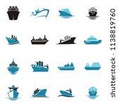 sea shipping cargo logo | Shutterstock .eps vector #1138819760