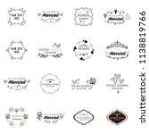 set collection vintage wedding... | Shutterstock .eps vector #1138819766