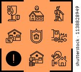 simple icon set of insurance... | Shutterstock .eps vector #1138828949