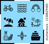 simple icon set of summer... | Shutterstock .eps vector #1138829480