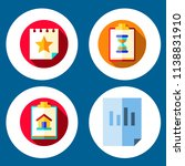 simple 4 icon set of note... | Shutterstock .eps vector #1138831910