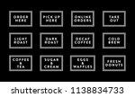 restaurant shop menu vector... | Shutterstock .eps vector #1138834733