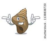 wink spiral shell character...   Shutterstock .eps vector #1138838720