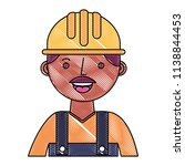 construction man worker with... | Shutterstock .eps vector #1138844453
