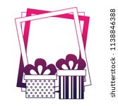 birthday gift boxes and frame... | Shutterstock .eps vector #1138846388