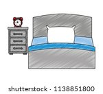bed with drawer and alarm clock | Shutterstock .eps vector #1138851800