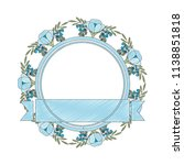 frame with beautiful flower and ... | Shutterstock .eps vector #1138851818