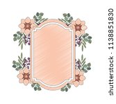 frame with beautiful flower... | Shutterstock .eps vector #1138851830