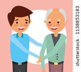 grandparents day card   Shutterstock .eps vector #1138853183
