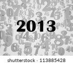 new 2013 year card. high... | Shutterstock . vector #113885428