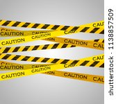 caution lines isolated. warning ... | Shutterstock .eps vector #1138857509