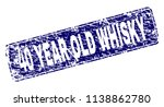 40 year old whisky stamp seal... | Shutterstock .eps vector #1138862780