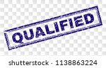 qualified stamp seal print with ... | Shutterstock .eps vector #1138863224