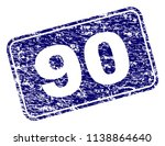 90 stamp seal print with... | Shutterstock .eps vector #1138864640