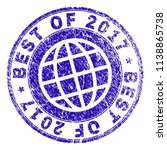 best of 2017 stamp imprint with ... | Shutterstock .eps vector #1138865738