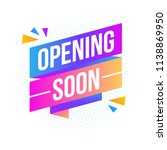 opening soon arrow | Shutterstock .eps vector #1138869950
