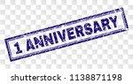 1 anniversary stamp seal... | Shutterstock .eps vector #1138871198