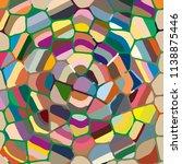 colourful ornamental rose... | Shutterstock .eps vector #1138875446