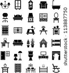 furniture icons | Shutterstock .eps vector #113887750