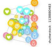 social media marketing ... | Shutterstock .eps vector #1138880483