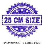 25 cm size stamp watermark with ... | Shutterstock .eps vector #1138881428
