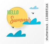 summer time   sun and cloud... | Shutterstock .eps vector #1138885166