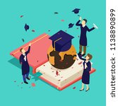 graduation success for students | Shutterstock .eps vector #1138890899