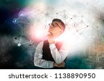 businessman thinking about... | Shutterstock . vector #1138890950