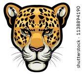 leopard head in detailed style | Shutterstock .eps vector #1138894190