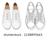 isolated  white sneakers | Shutterstock .eps vector #1138895663