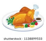 roast turkey clip art | Shutterstock .eps vector #1138899533