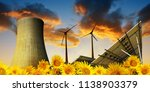 solar energy panels with wind... | Shutterstock . vector #1138903379